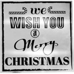 690097-Metallic Silver Merry Christmas Label