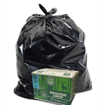 "655992 – 30"" x 38"" Industrial Garbage Bags – Black – 250"